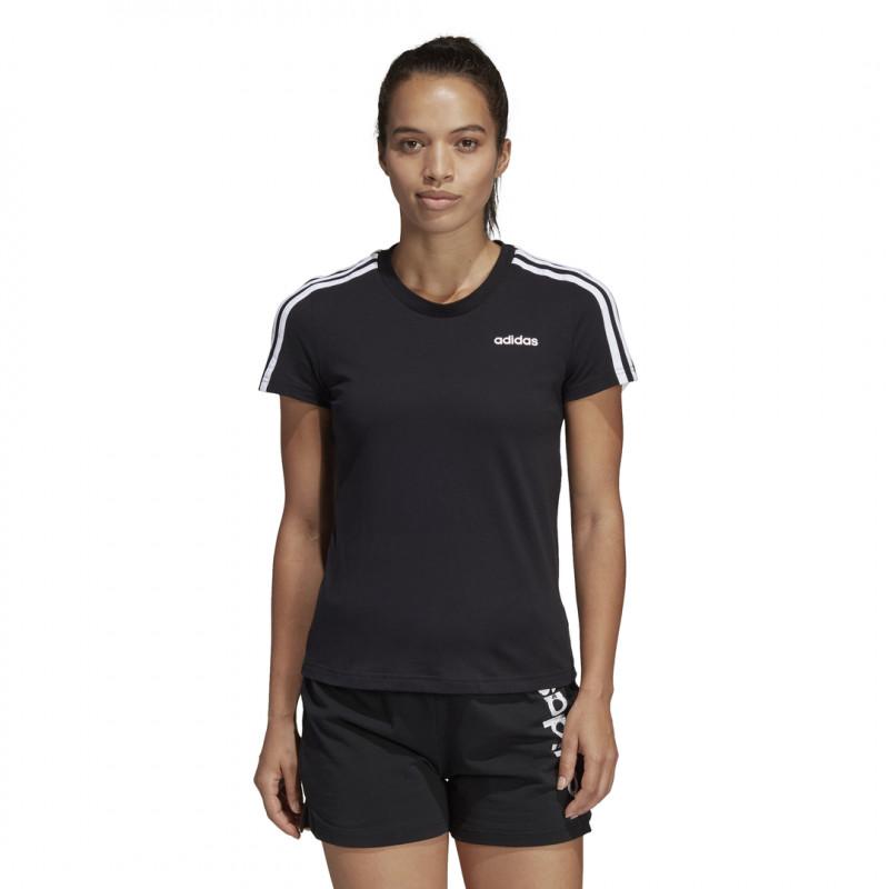 adidas Damen W E 3S Slim Tee T-Shirt Black/White L